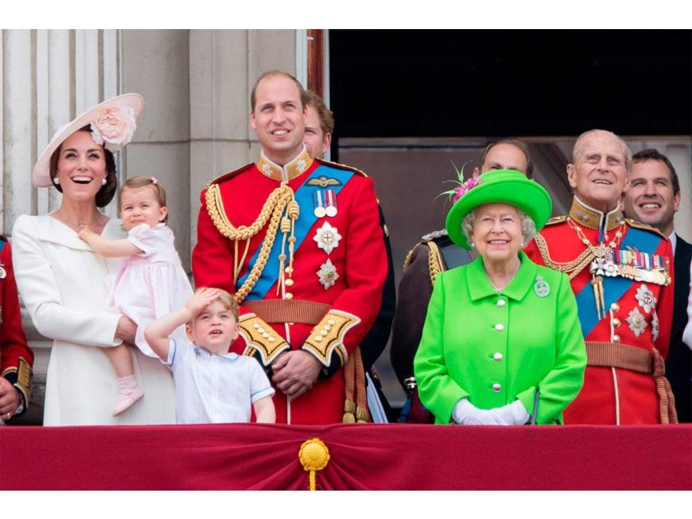 Queen Elizabeth with the Royal Family