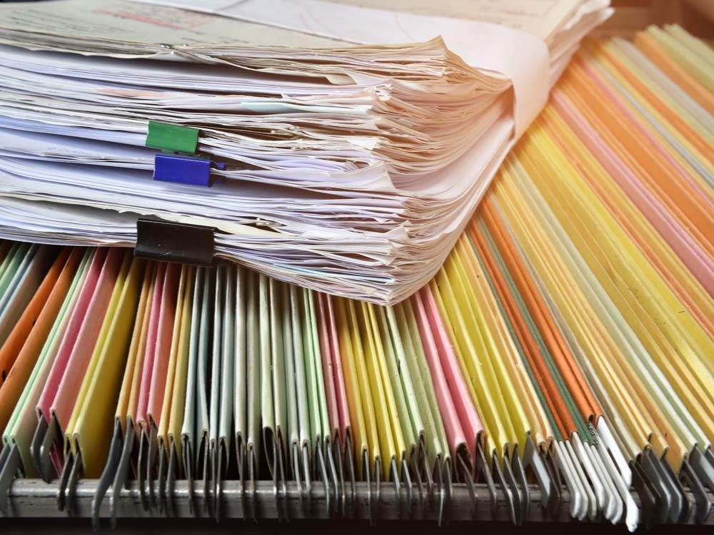 Documents in files