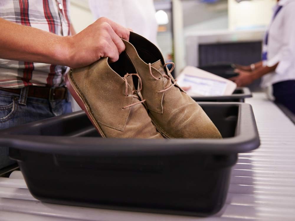 Don't walk barefoot through airport security