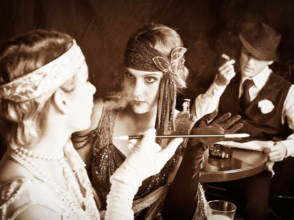 Young flapper girls and gangster