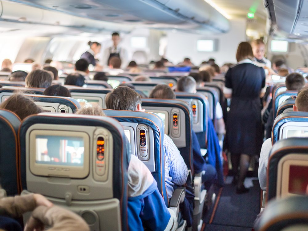 The seats in the middle of the plane are best for those with motion sickness