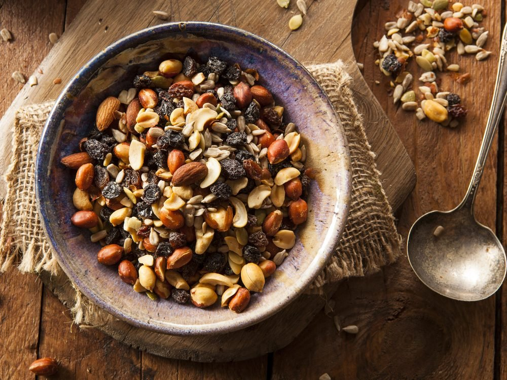 Keep trail mix in your car and office for the munchies to increase your dietary fibre