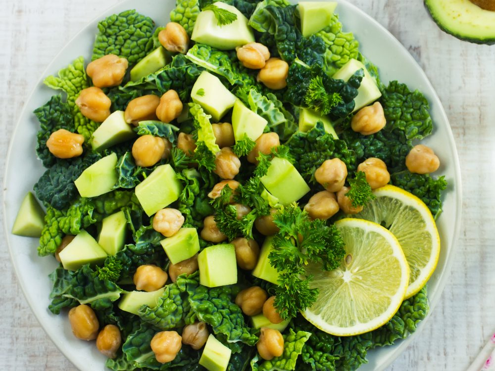 Add kidney beans or chickpeas to your next salad to increase your dietary fibre