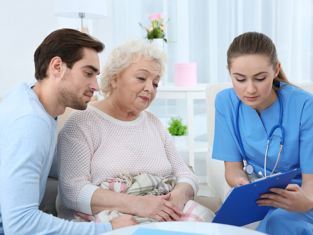 Nurses may talk to family members to clarify their goals for the patient's care