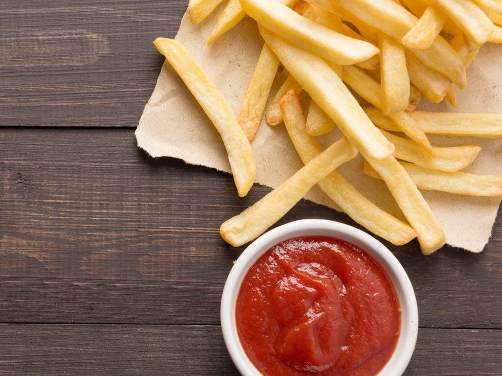 Ketchup is an unhealthy condiment choice.
