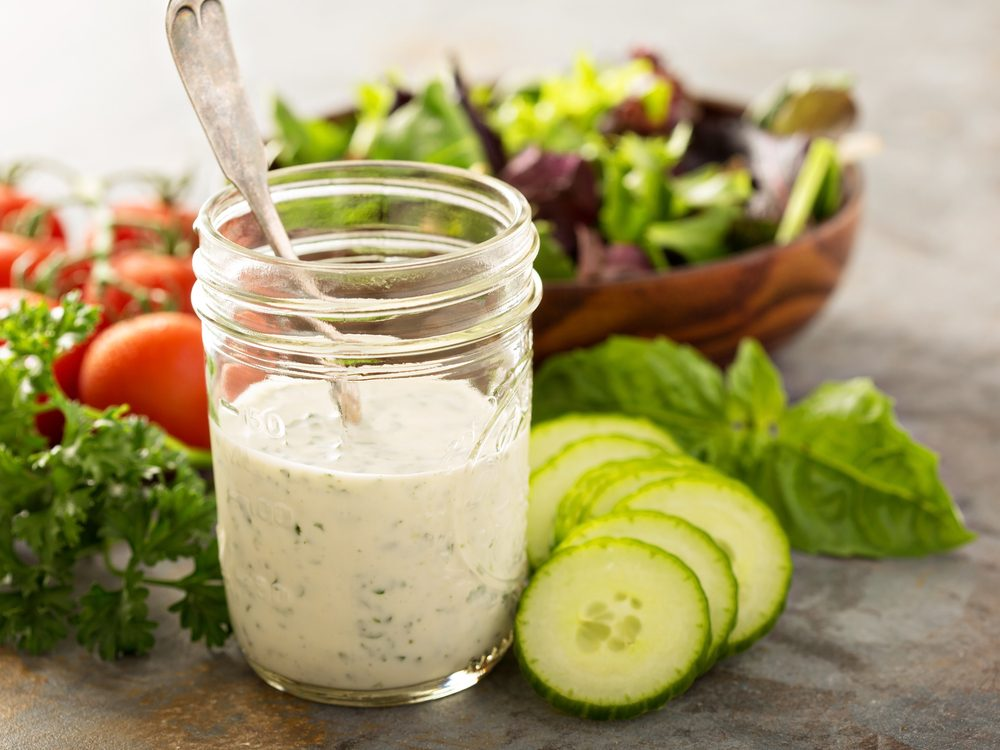 Fat-free dressing is an unhealthy condiment choice.