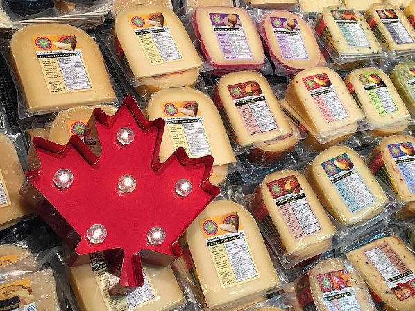 Cheeses at the Calgary Farmers' Market