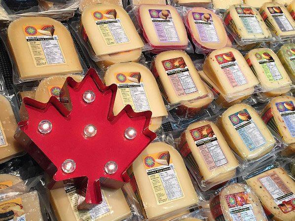 Cheeses at the Calgary Farmers' Market