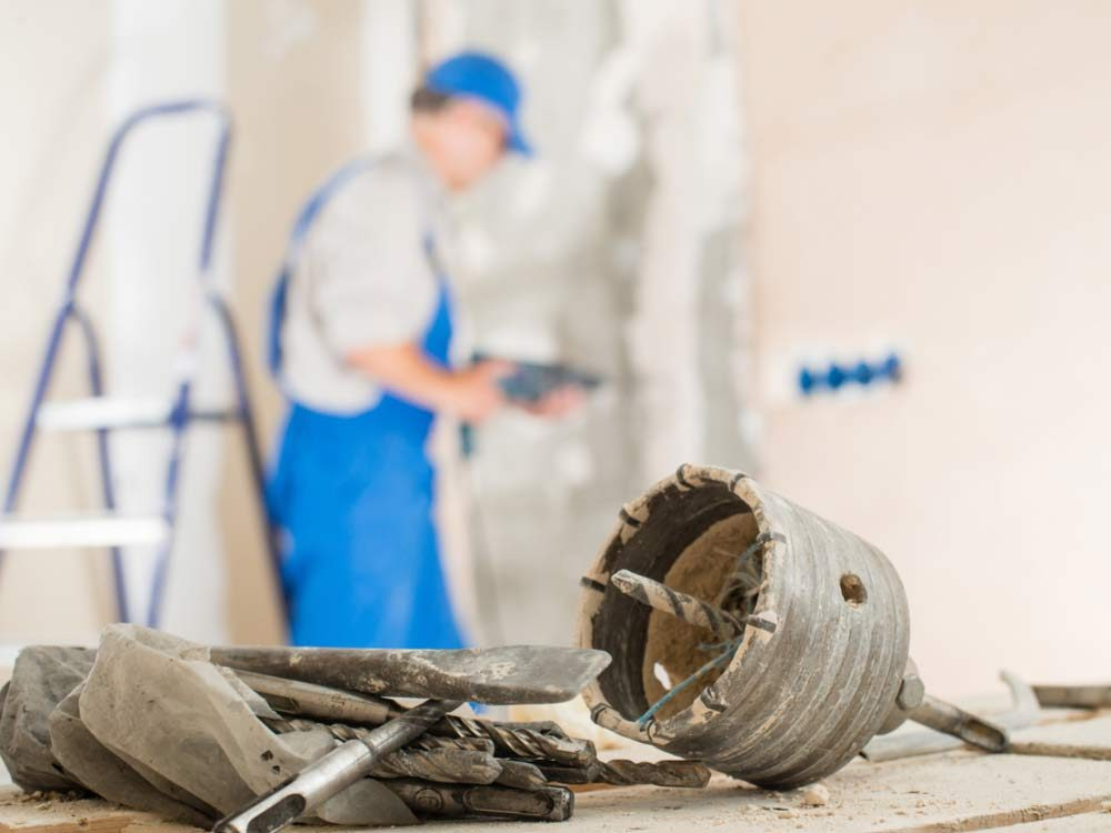 Homeowner removing wall