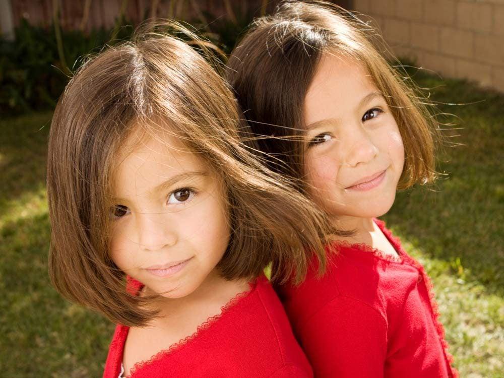 Young twin girls
