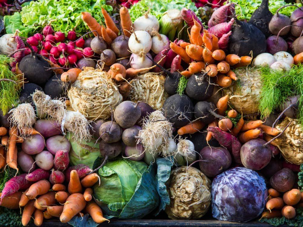 Produce at farmers' market