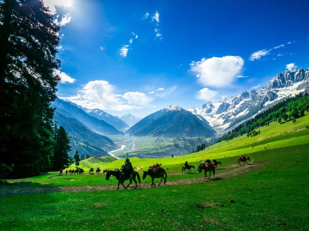 Landscape in Kashmir