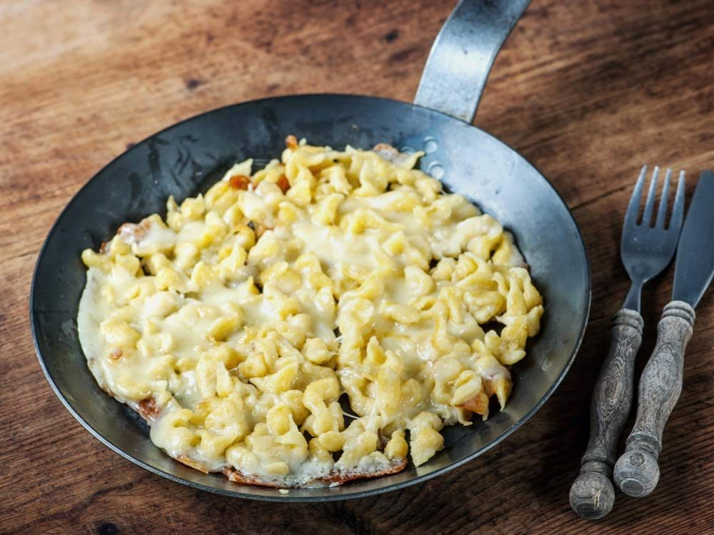 German spatzle with cheese