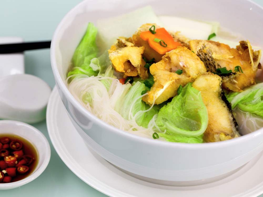Fish bee hoon soup