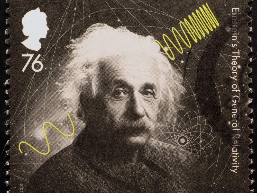 Albert Einstein post stamp