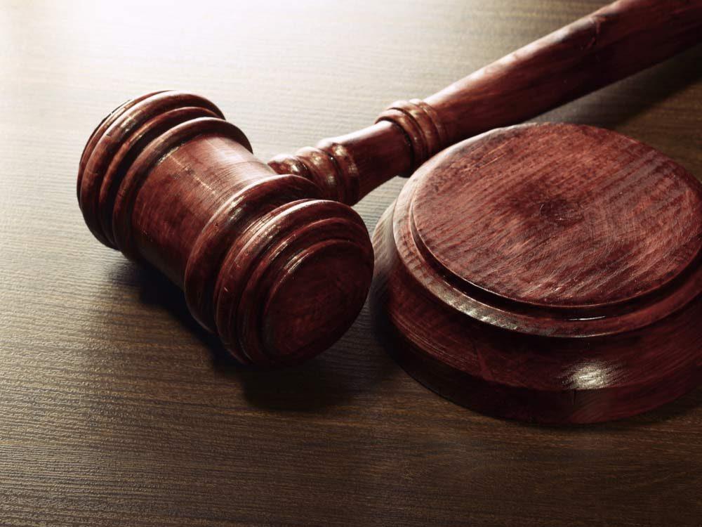 Judge's hammer and gavel