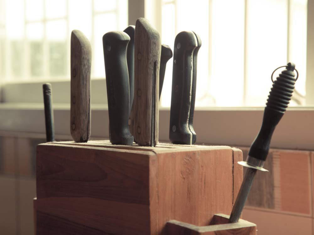 Woody knife block