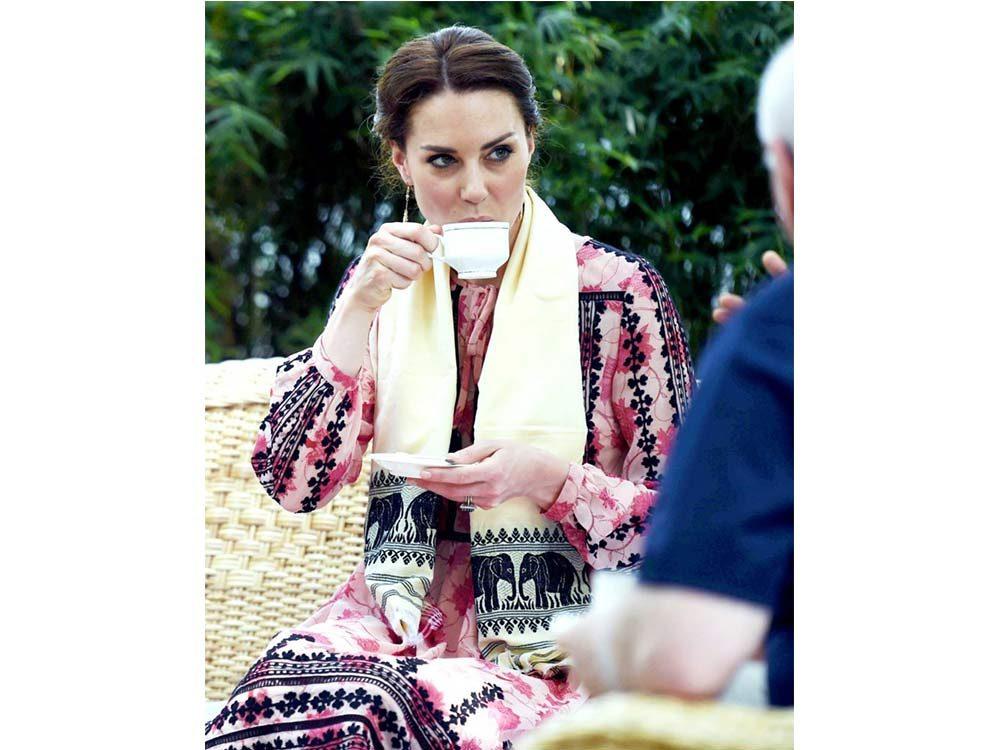 Kate Middleton drinking tea