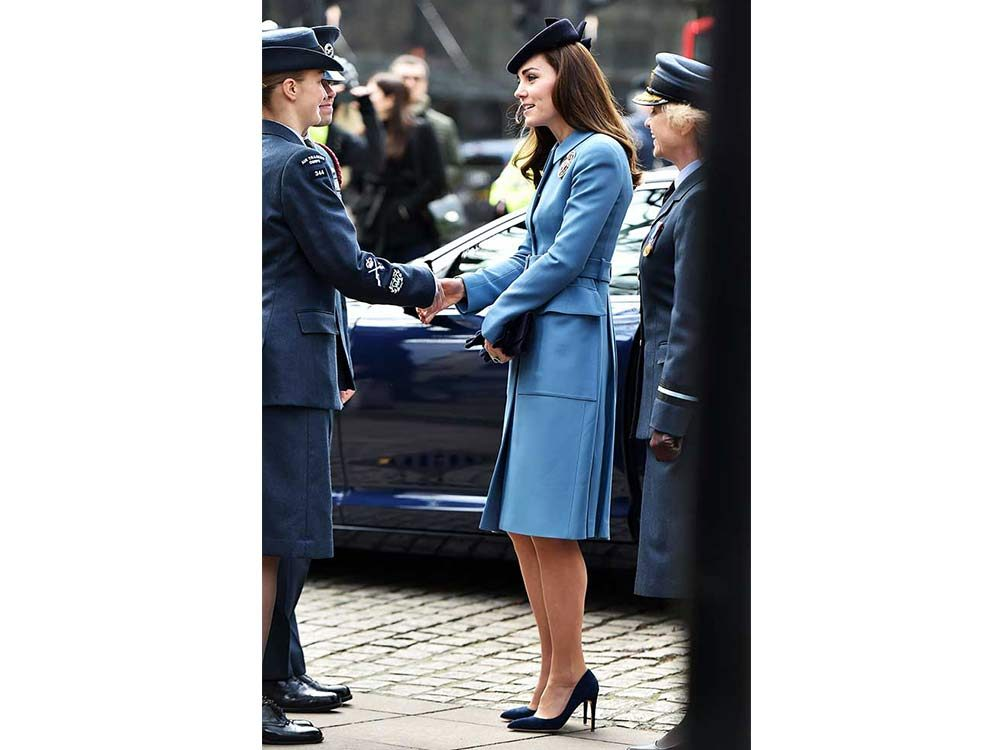 Kate Middleton shaking hands