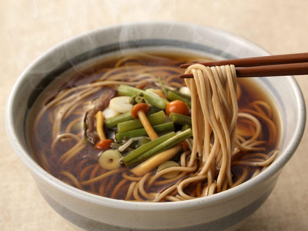 Soba noodles are a healthy pasta alternative