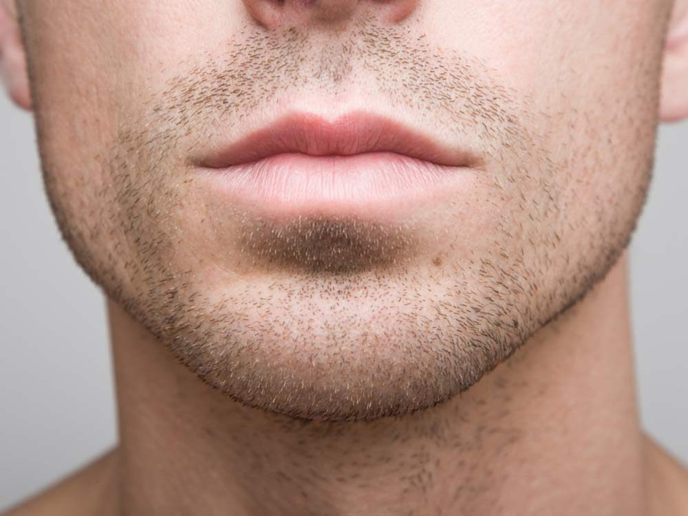Man's mouth and chin