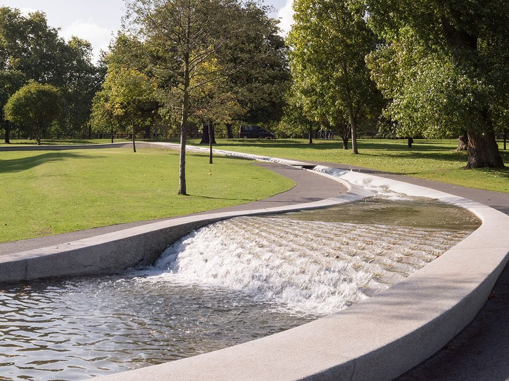 Diana Princess of Wales Memorial Fountain in Hyde Park, London