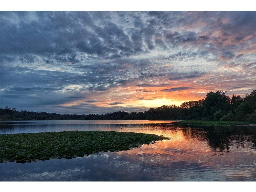 Sunset at national park