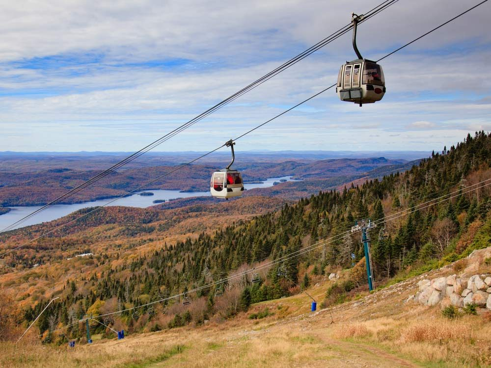 Ski lift in Mont Tremblant