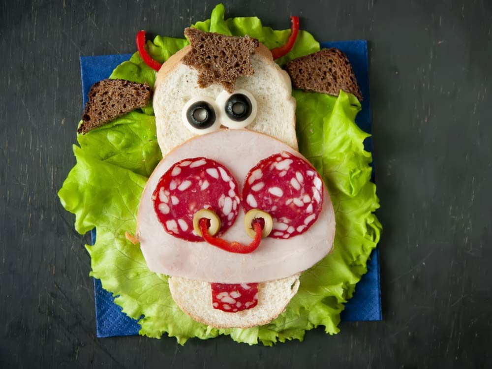 Funny child's sandwich