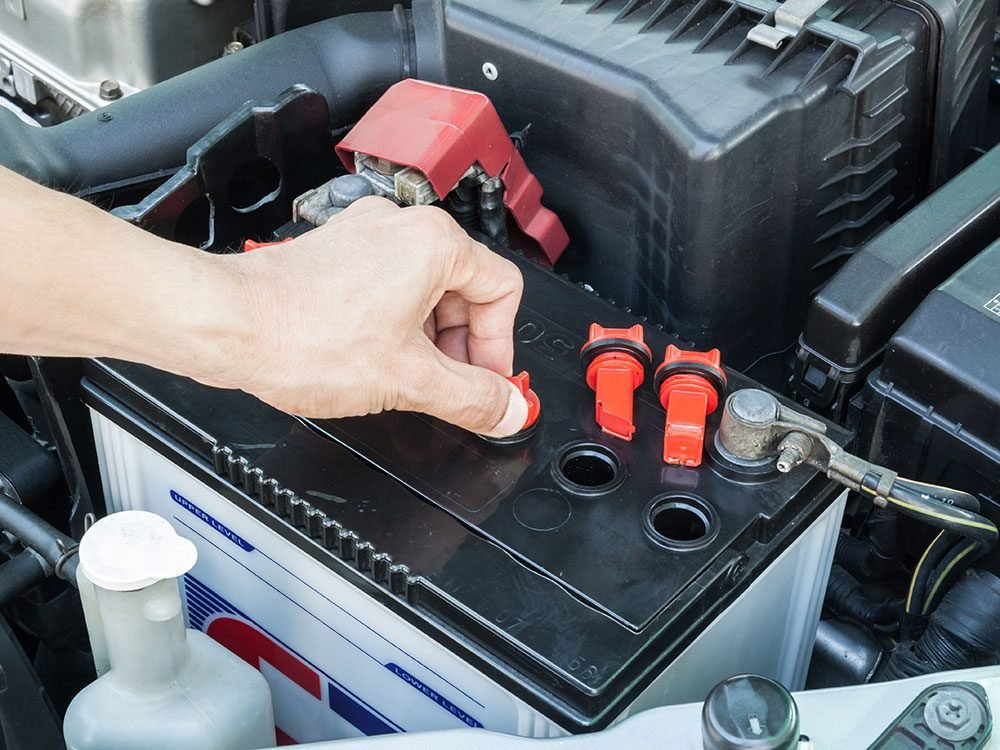How to check car battery fluid levels