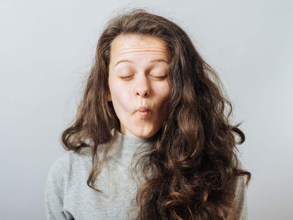Woman with hiccups