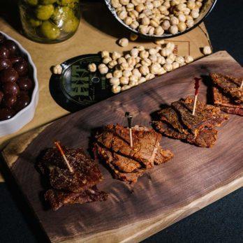 KRAVE Gourmet Jerky Charcuterie Board