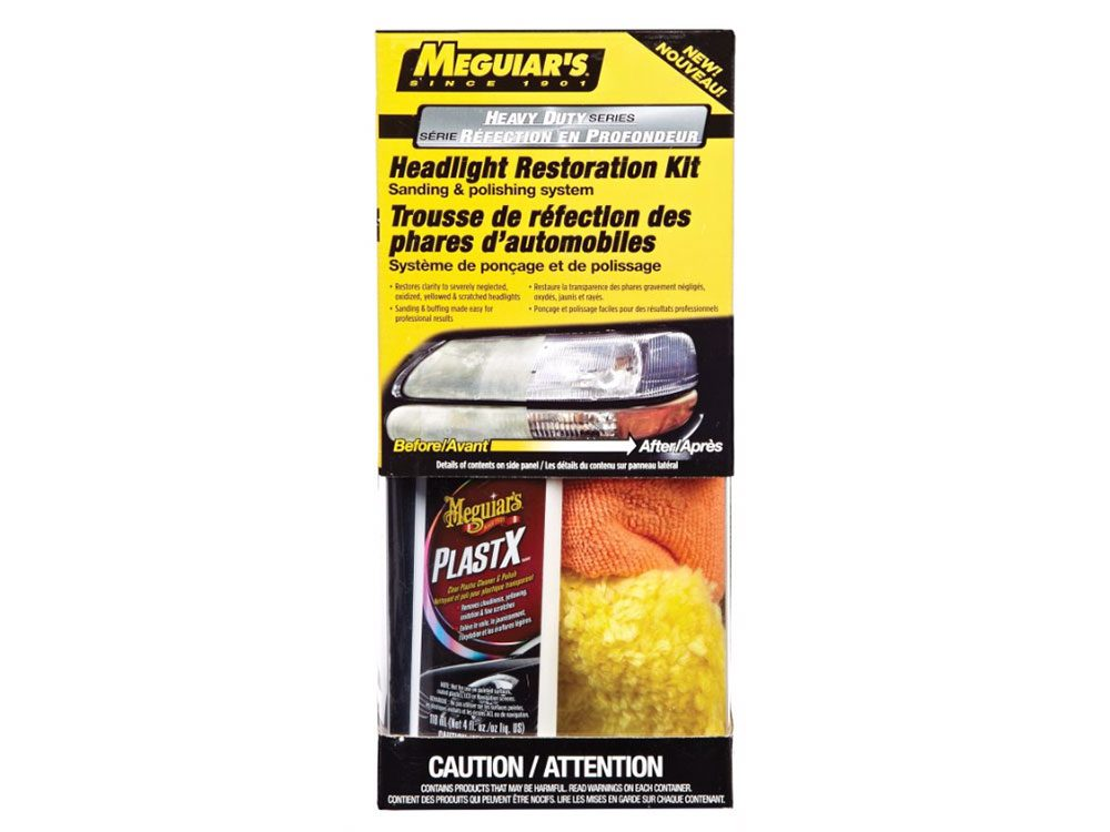 Car cleaning accessories: Meguiar headlight restoration kit