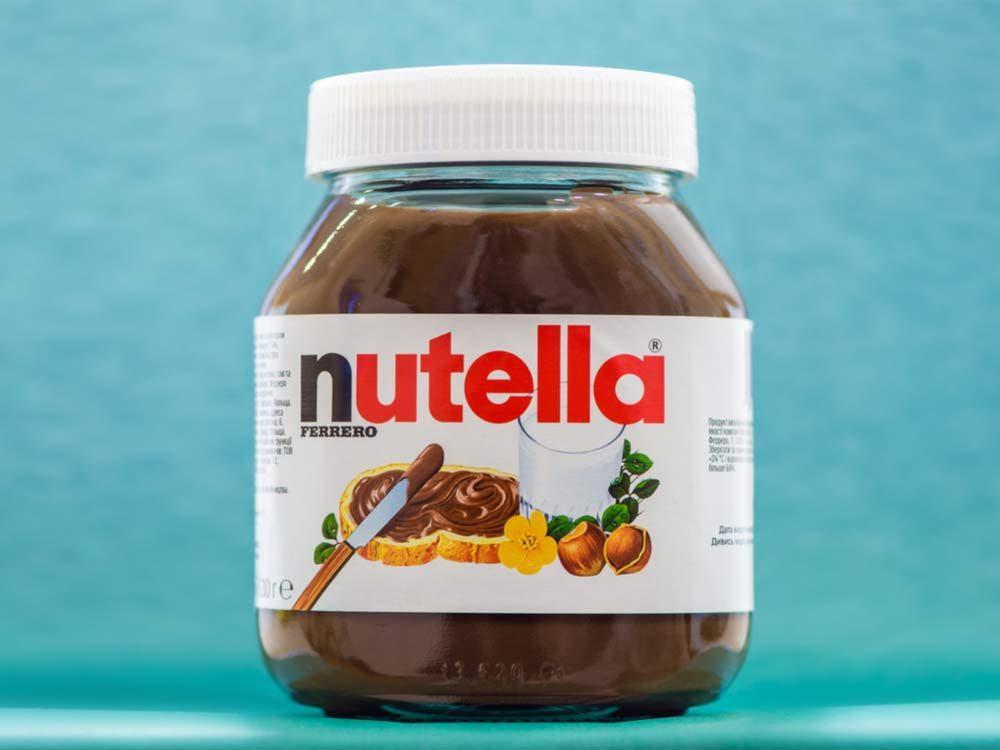 Jar of hazelnut Nutella