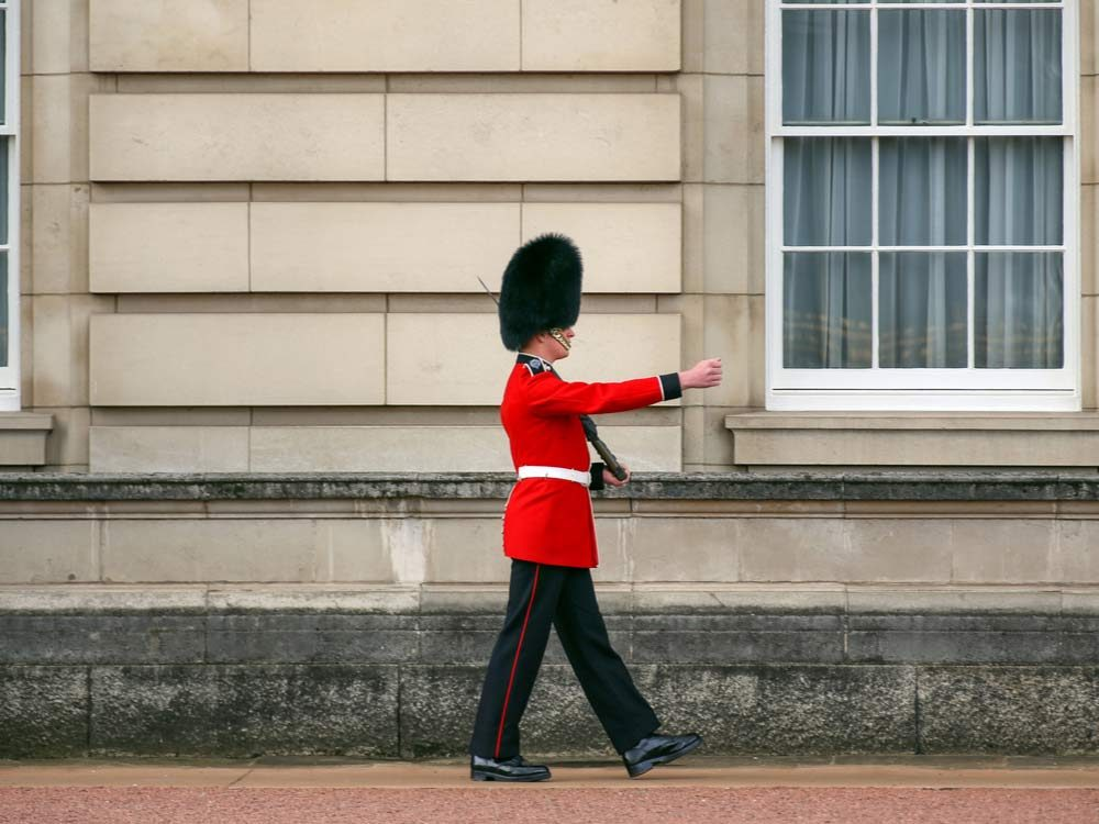 Royal guard doing his famous walk
