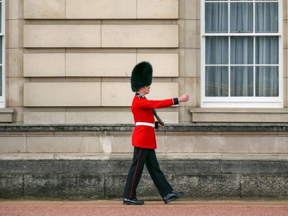 Royal guard doing his famous walk