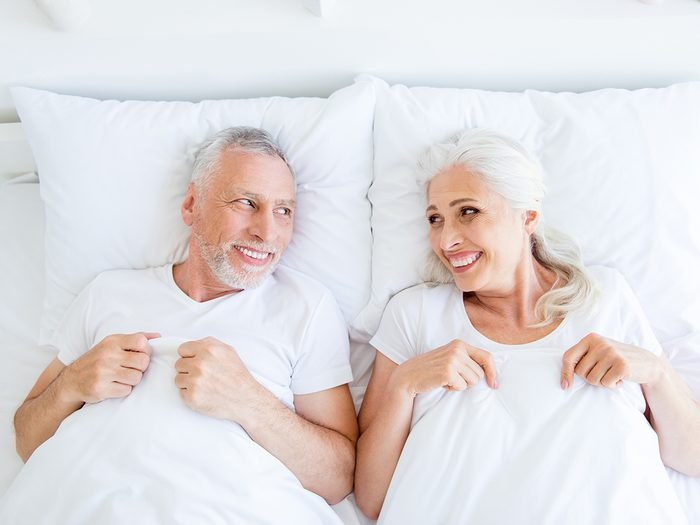 Sex after 50 - seniors in bed