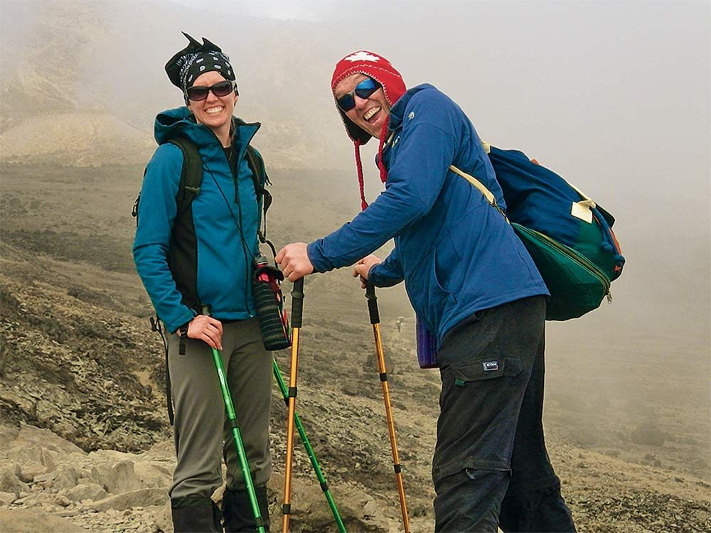 Johannes and Melinda in Tanzania