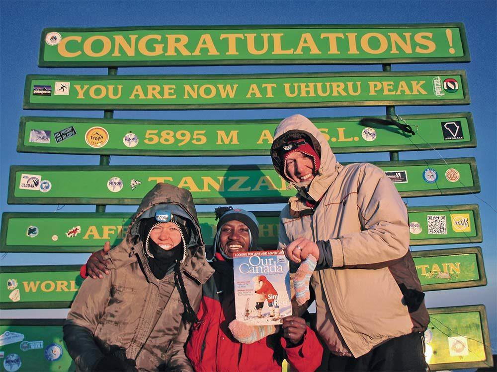 Johannes and Melinda on Mt. Kilimanjaro