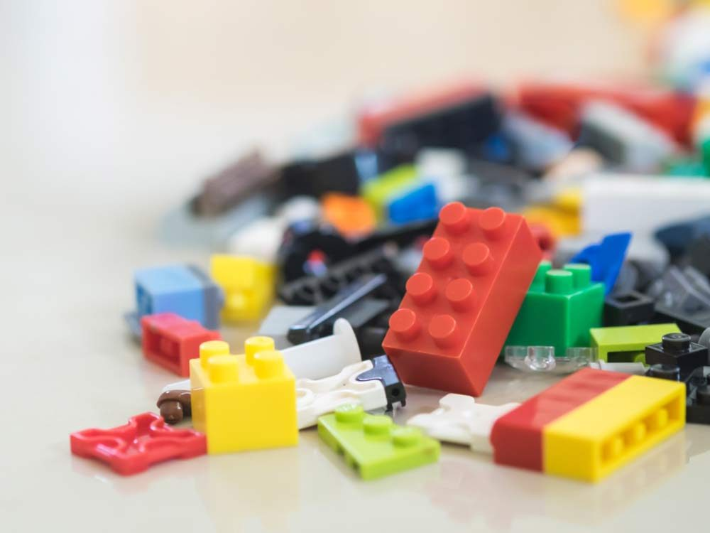 Assorted lego blocks