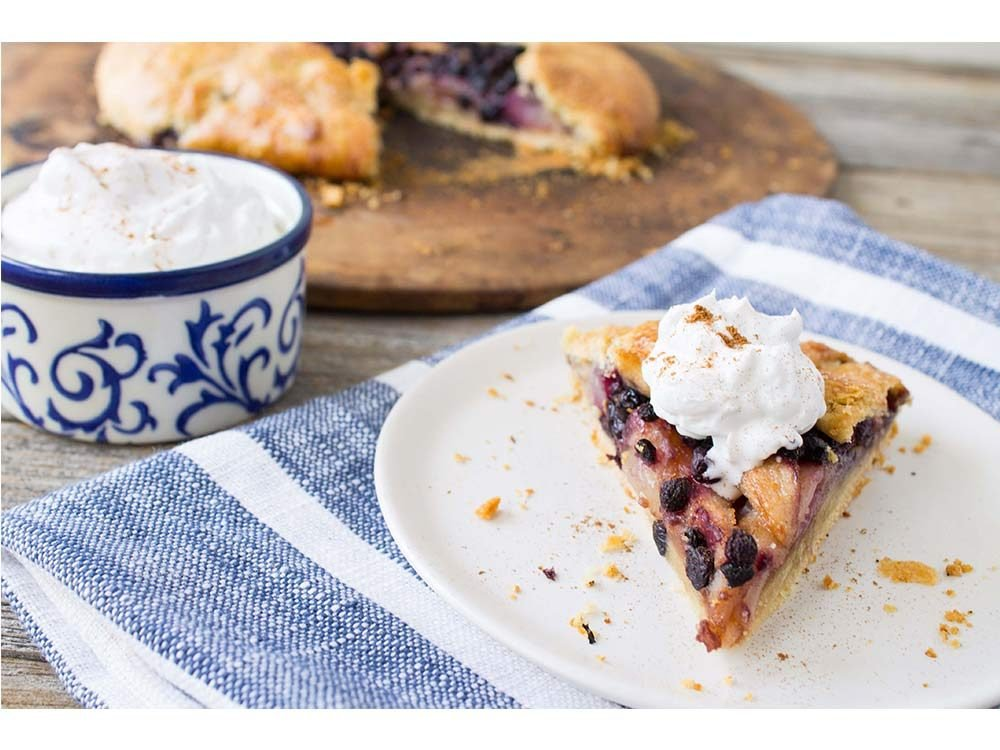 Wild blueberry pear ginger galette