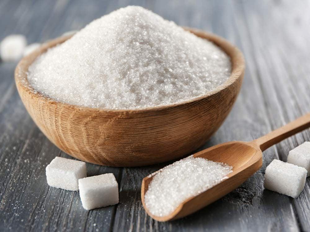 Pile of sugar in bowl