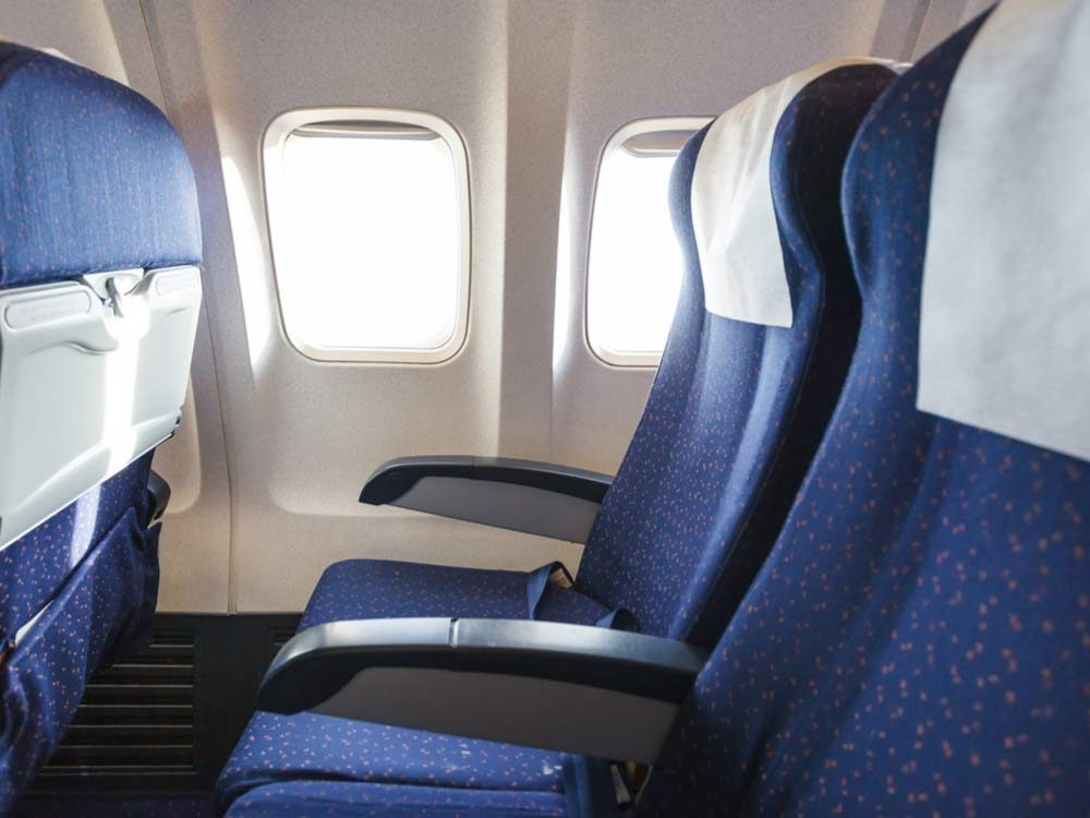 Coach seats on airplane