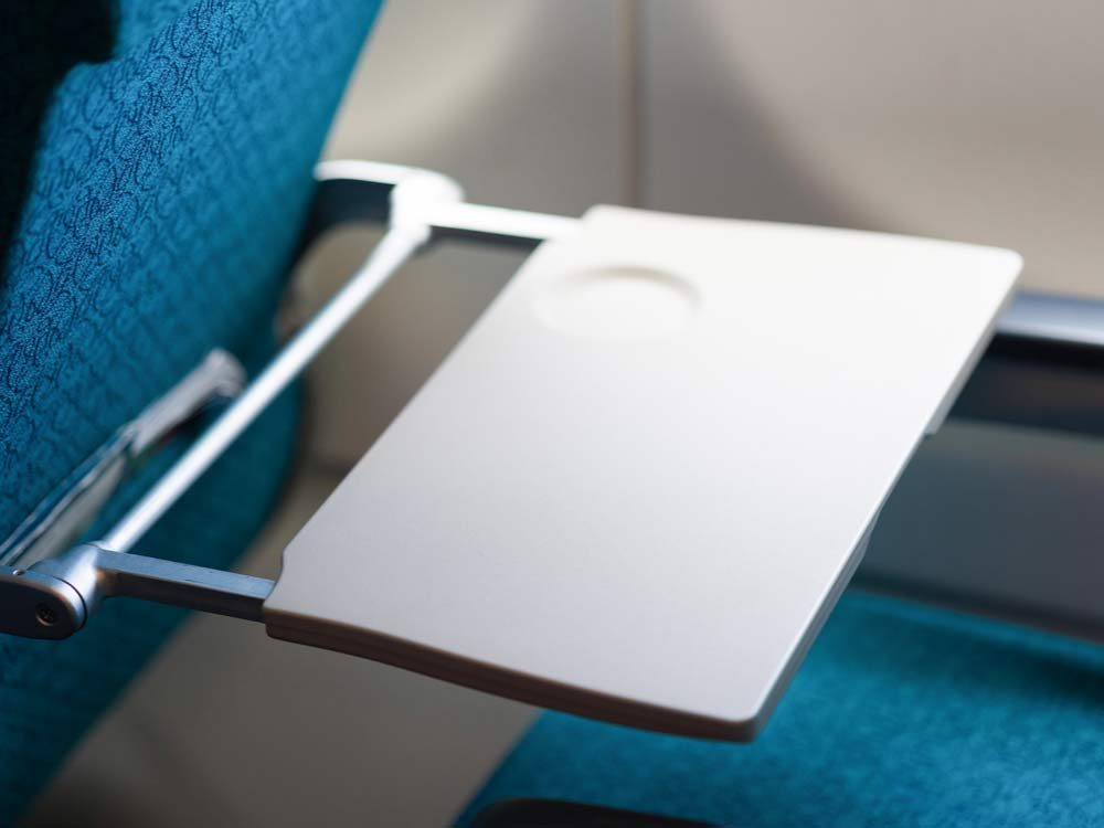 Airplane table tray