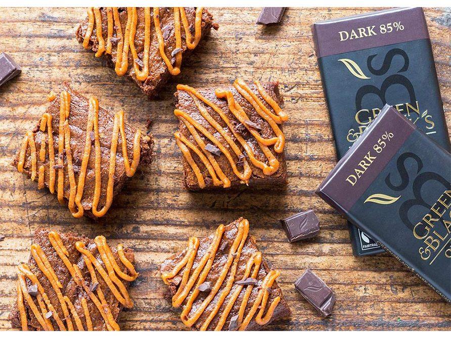 Chocolate pumpkin brownies