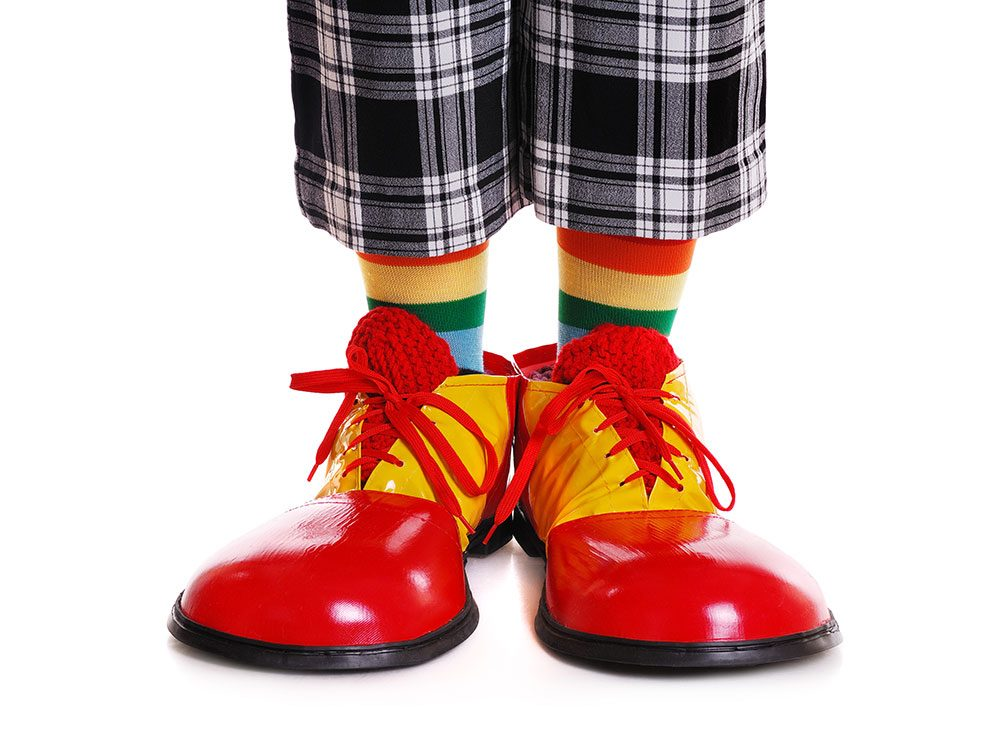 Are clown shoes creepy? Maybe you have coulrophobia