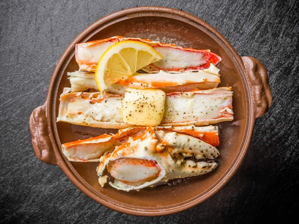 Crab meat and claws