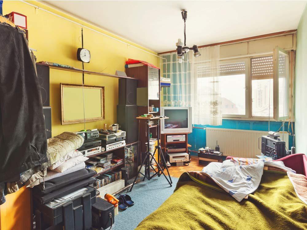 Messy bedroom