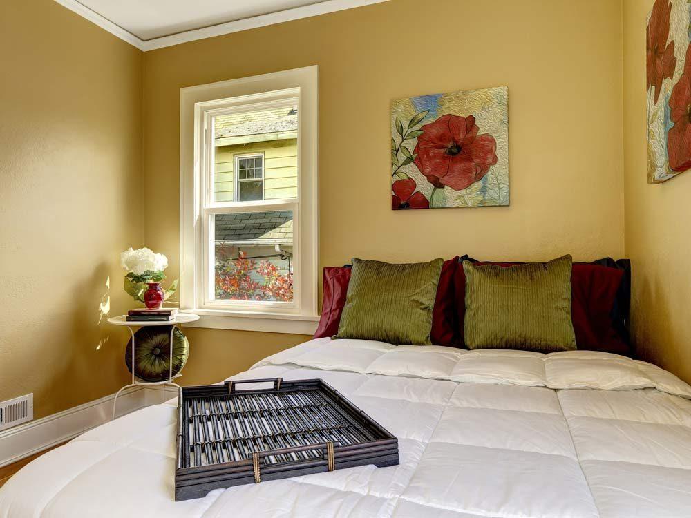 Modern bedroom in apartment