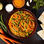 Green Beans & Carrots in Coconut-Turmeric Curry